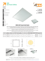 KUB LED Panel 230Vac KUB LED Panel Soft Dark