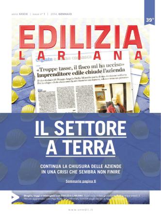 anno XXXIX   issue n° 1   2014, GENNAIO www