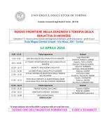 PROGRAMMA CORSO MENIERE - Scuola di Medicina