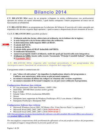 Bilancio 2014 - Il Commercialista Telematico