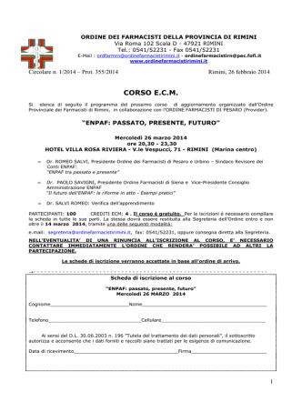 Allegato 1 - Ordine Farmacisti Rimini