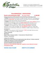 PELLEGRINAGGIO a MEDJUGORJE Dal 01 al 04 Settembre 2014