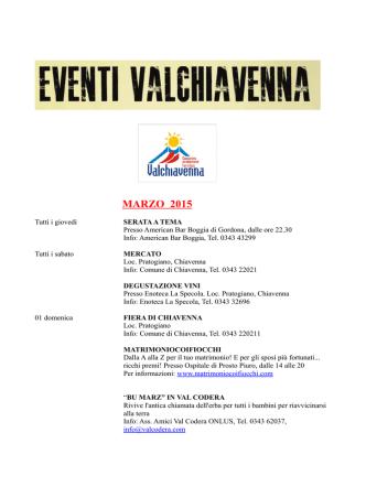 calendario eventi PDF