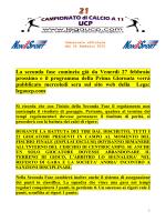 Comunicato ufficiale 21 24/02/2015