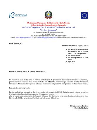 circolare IO MERITO - Istituto comprensivo Monteforte Irpino