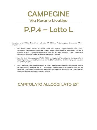 CAMPEGINE P.P.4 – Lotto L