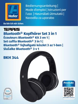 Bluetooth® Kopfhörer Set 3 in 1 BKH 344