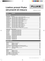 Listino prezzi Fluke strumenti di misura