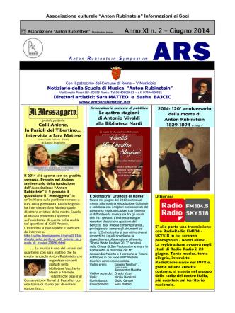 38 ARS marzo 14 - Scuola di musica Anton Rubinstein