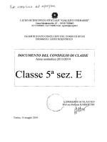 documento del 15 maggio classe 5 e