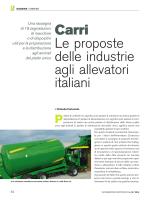 Le proposte delle industrie agli allevatori italiani Carri
