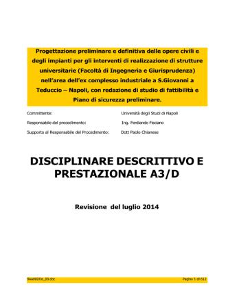 9AA00DDe Disciplinare descrittivo A3_D rev 01