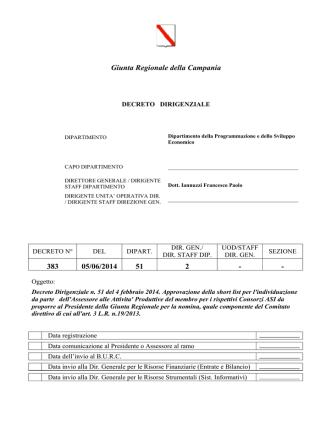 Decreto n. 383/2014