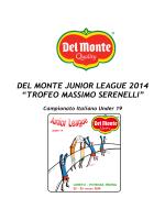 """DEL MONTE JUNIOR LEAGUE 2014 """"TROFEO"""