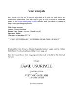 Fame usurpate - classicistranieri.com