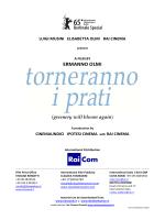 TORNERANNO I PRATI pressbook uscita 6 novembre