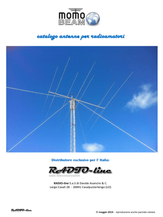 Catalogo Antenne MOMO-beam 2014 - RADIO-line