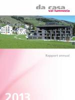 rapport annual 2013 - Da Casa Val Lumnezia