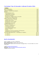 Curriculum Vitae di Alessandro Ardizzoni (9 ottobre 2014)
