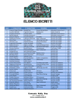 Elenco Iscritti Camunia Rally Day