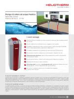 Prospetto pompa di calore ad acqua freatica