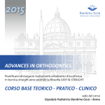advances in orthodontics corso base teorico