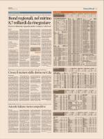 Bondregionali,nelmirino 8,7miliardidarinegoziare