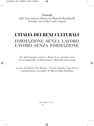 annale23_italia Beni culturali_sommario-premessa