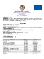 Esito Gara 012ED14 - Impianti Elettrici Cosenza Ovest