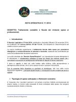NOTA OPERATIVA N. 17 /2014 OGGETTO: Trattamento