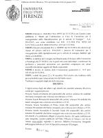 Elenco dei candidati ammessi - Università degli Studi di Firenze