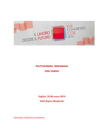 2014 Piattaforma CGIL sarda_ - FP CGIL