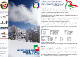 campionati italiani master a,b,c, tarvisio (udine) 21-23