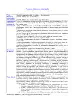 Scheda descrittiva - Dipartimento di Matematica