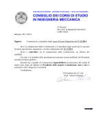 Commissioni 11 Dicembre Meccanica LM-VO