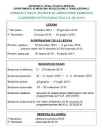 Calendario didattico a.a. 2014-2015 - Università degli Studi di Brescia
