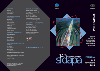 14° Congresso Nazionale SIDAPA - Università degli Studi di Perugia
