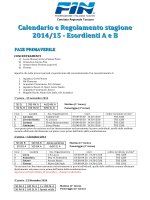 programma gare - Comitato Regionale Toscano