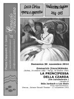 scarica il libretto - Teatro Cenacolo Francescano