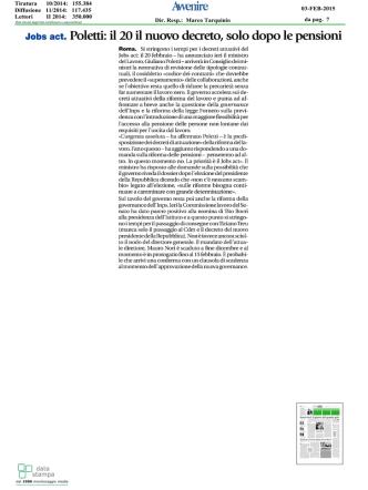 da pag. 7 03-FEB-2015 Dir. Resp.: Marco Tarquinio