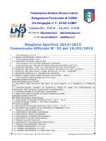 COMUNICATO n.32 del 19/02/2015