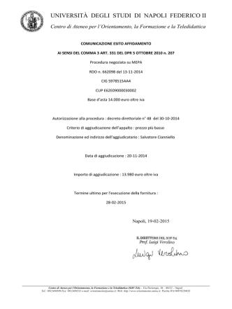Carta Intestata - Università degli Studi di Napoli Federico II