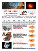 ARRIVA L`ECLISSE DI SOLE IN ITALIA