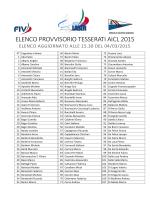 ELENCO PROVVISORIO TESSERATI AICL 2015