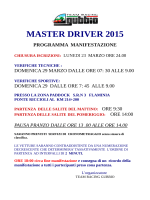 MASTER DRIVER 2015 - Team Racing Gubbio