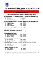 programma socrates/erasmus a - Università degli studi di Bergamo