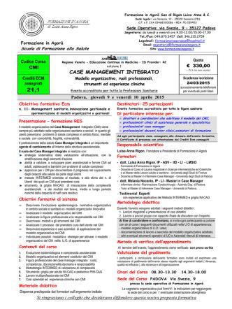 Case Management Integrato