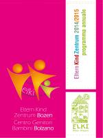 Eltern Kind Zentrum 2014 /2015 programma annuale Centro