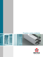 Profili dei serramenti in alluminio Metra