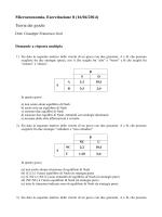 Microeconomia, Esercitazione 8 (16/04/2014) Teoria dei giochi
